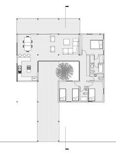 Aquí puedes encontrar fotos con ideas de diseño de interiores. ¡Inspírate! Modern Small House Design, Modern House Plans, House Floor Plans, Philippines House Design, Villa Plan, Casa Patio, Courtyard House, Sims House, Villa Design