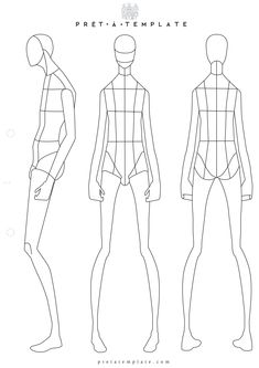 man male body figure fashion template (D-I-Y your own Fashion Sketchbook)