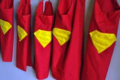 superman party with capes for favors