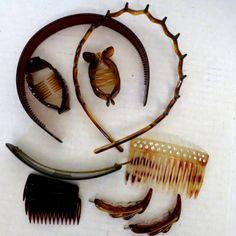 http://www.ebay.com/itm/Lot-Vintage-Hair-Accessories-Butterscotch-Celluloid-circa-1950s/382233597573?hash=item58fee5d685:g:8uYAAOSwM7JZxXSv