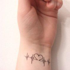 Temporary Tattoo's  Heart Beat Heart by HilliaryCustomLiving, $4.52