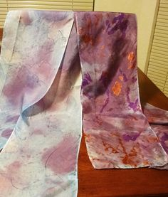 Hand painted silk