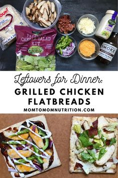 Tired of cooking every night? Then turn to leftovers chicken flatbreads! By using leftovers for dinner, you can not only prevent food waste, but save yourself sometime in the kitchen. Snack Recipes, Cooking Recipes, Snacks, My Favorite Food, Favorite Recipes, Nutrition Articles, Seashell Crafts, Food Waste, Grilled Chicken