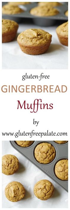 You can whip up a batch of these Gluten-Free Gingerbread Muffins in no time. These tender gingerbread muffins will spice up your life and can be enjoyed anytime of the year. Gluten Free Recipes For Breakfast, Best Gluten Free Recipes, Gluten Free Muffins, Gluten Free Sweets, Paleo Sweets, Gluten Free Breakfasts, Healthy Muffins, Paleo Dessert, Gf Recipes