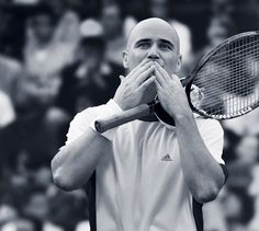 Andre Agassi, his way of thanking the spectators #tennis