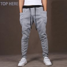 1149b83c3 US $8.88 50% OFF|Casual Men Pants Unique Big Pocket Hip Hop Harem Pants  Quality Outwear Sweatpants Casual Mens Joggers TOP HERE Men's Trousers-in  Harem ...