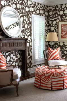 brown and tangerine zebra print from porter design