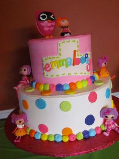 **MAYBE A DIFFERENT COLOR ON BOTTOM LAYER**lalaloopsy cake - Google Search