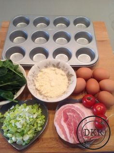 Variant eiermuffins - Daan's Koolhydraatarme Recepten Dutch Recipes, Low Carb Recipes, Healthy Recipes, Law Carb, Good Food, Yummy Food, Low Carb Lunch, Savory Snacks, Convenience Food