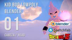 Kid Boo Lowpoly - Capítulo 1: Modelando la cabeza en Blender