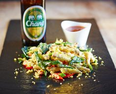 Curried Chang Tempura Grasshoppers with Sweet Chilli Sauce