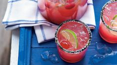 Sparkling Cherry Limeade - Very Cherry Recipes - Southern Living - A fun mocktail you can garnish with margarita salt, limes and cherries. Add a little tequila and a splash of orange liqueur for an extra kick.   Recipe:Sparkling Cherry Limeade