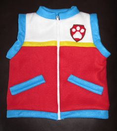 PAW PATROL VEST, Ryder Inspired Vest Adult Sizes, Paw Patrol Inspired Vest, Made to order