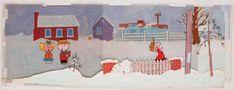 Charlie Brown Christmas orig panoramic cel & orig production bkgrnd from A Charlie Brown Christmas