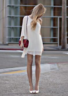 vestido blanco.  SIMPLE WHITE DRESS