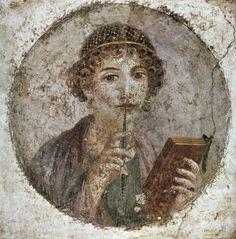 Sappho (612-545 Bc) Poster Print (24 x 36)