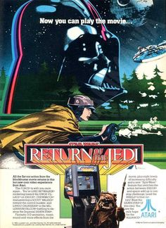 Star Wars: Return of the Jedi Atari video game (circa 1984) | #starwars #starwarsvideogames