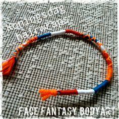 Koningsdag of EK/WK hairwraps. Handmade by Face Fantasy BodyArt. #hairwraps