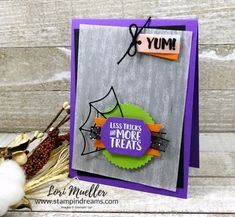 SFHop-TakeoutTreatsCardLeft-Lori-DSC07813 Up Halloween, Halloween Treats, Trick Or Treat, Stampin Up, About Me Blog, Frame, Holiday, Projects, Cards