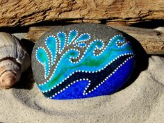 Painted Rock / Splash / Sandi Pike Foundas by LoveFromCapeCod