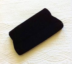 GABRIELLE'S AMAZING FANTASY CLOSET   Vintage Black Velvet Evening Clutch Purse   You can see the Rest of the Outfit and my Remarks on this board.  -  Gabrielle