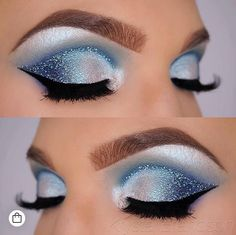 Augen Make-Up 6 faster makeup tips from makeup professionals - Style O Check Ice Makeup, Ice Queen Makeup, Frozen Makeup, Fast Makeup, Makeup Pro, Eye Makeup Art, Eyeshadow Makeup, Makeup Tips, Beauty Makeup