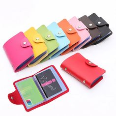 Fashion Credit Card Holder Men Women Travel Cards Wallet PU Leather Buckle Business ID Card Holders Popular  Price: 0.88 USD