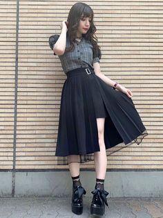 Kawaii Fashion, Cute Fashion, Look Fashion, Skirt Fashion, Fashion Dresses, Fashion Design, Trendy Fashion, Korean Girl Fashion, Ulzzang Fashion