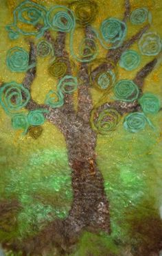 Felted tree wall hanging £50