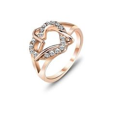Charm Zircon Ring (11 CAD) ❤ liked on Polyvore featuring jewelry, rings, zircon ring, zircon jewelry, charm rings and charm jewelry
