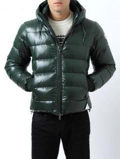 4bcb519ac6fc Moncler Down Jacket - Moncler Aubert - dark green - short down jacket made  of nylon