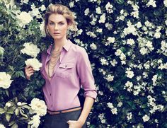 Angela Lindvall for Ann Taylor
