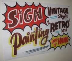 sign painting done by hand