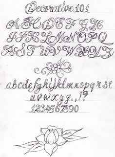 Decorative Writing Tutorial by Nevermore-Ink.deviantart.com on @deviantART