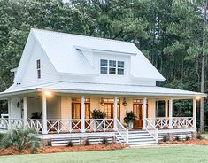 House Plans For Sale, Cabin House Plans, Tiny House Plans, House Plans 3 Bedroom, Square House Plans, House Plans With Porches, Southern Living House Plans, Pole Barn House Plans, Pole Barn Houses