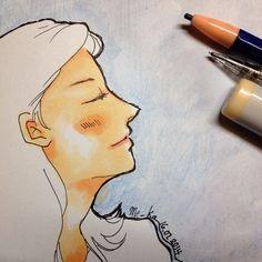 close your eyes, enjoy the night! | #mekaworks #drawing