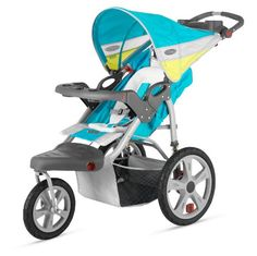 Special Offers - InStep Grand Safari Single Swivel Stroller Blue/Yellow - In stock & Free Shipping. You can save more money! Check It (June 26 2016 at 11:35AM) >> http://babycarseatusa.net/instep-grand-safari-single-swivel-stroller-blueyellow/