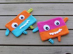 Crochet Dreamz: Monster Pencil Case or Pouch, Free Crochet Pattern, Back to School