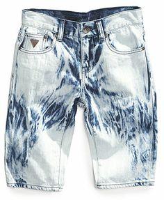 GUESS Boys' Tie-Dye Denim Shorts