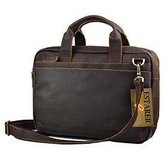 Estarer Vintage Leder Arbeitstasche Laptoptasche Handtasche Braun Herrentasche Ledertasche - http://herrentaschenkaufen.de/estarer/estarer-vintage-leder-arbeitstasche-handtasche