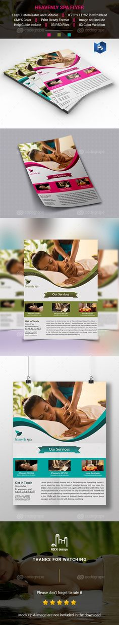 Spa Flyer Template on @codegrape. More Info: http://www.codegrape.com/item/spa-flyer-template/8769