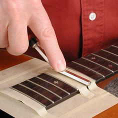 A versatile no-chatter file for crowning frets! Guitar Neck, Guitar Body, Best Guitar Players, Guitar Tips, Guitar Building, Guitar Design, Acoustic Guitar, Woodworking, Good Things