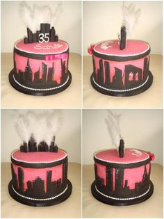 40th Birthday New York City Themed Cake - CMNY Cakes