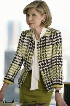 The Good Fight First Look: Return to the World of The Good Wife Office Outfits, Office Wear, Casual Outfits, Casual Office, Casual Attire, Office Uniform, Business Attire, Business Fashion, Business Casual