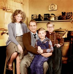 A Christmas Story - The Parker Family: Mom, The Old Man, Randy and Ralphie.