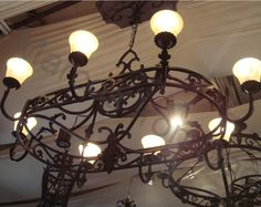 Antique Wrought Iron Light Fixtures | Wrought Iron Chandelier Light Fixture Ornamental Iron | eBay