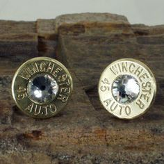 Bullet Earrings - Winchester 45 AUTO - Crystal Club Hoppers