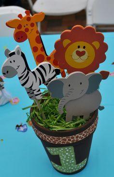 centros de mesa infantiles animales de la selva - Buscar con Google