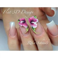 32 trendy wedding nails for bride acrylic maxi dresses Creative Nail Designs, Creative Nails, Nail Art Designs, Uñas One Stroke, One Stroke Nails, Bride Nails, Wedding Nails For Bride, Cute Nails, Pretty Nails