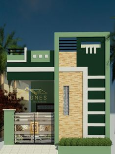 House Wall Design, House Balcony Design, House Outer Design, Bungalow House Design, House Front Design, Small House Design, 20x30 House Plans, New House Plans, Front Elevation Designs